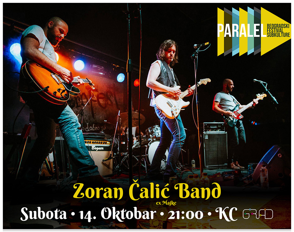 Zoran Calic Band, Friday, 14th of October, 21h, KC Grad