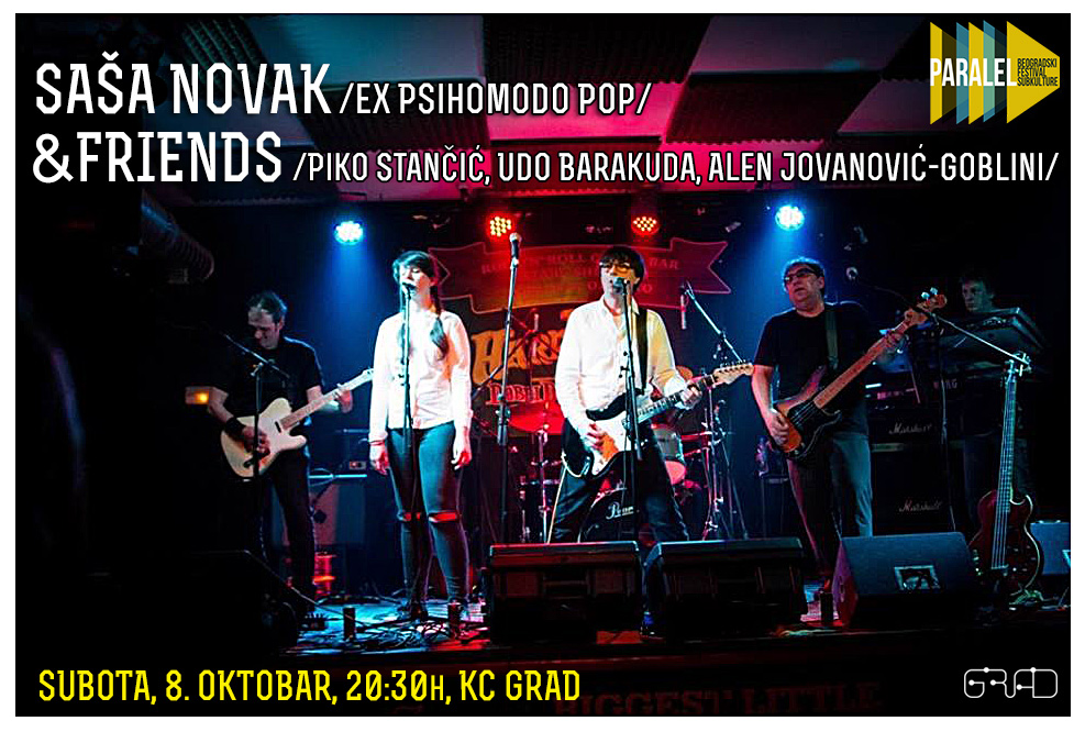 Sale&Friends, Saturday, October the 8th, 20.30h, KC Grad