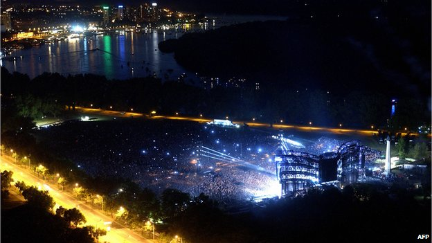 Belgrade has hosted large open air concerts by acts including Depeche Mode